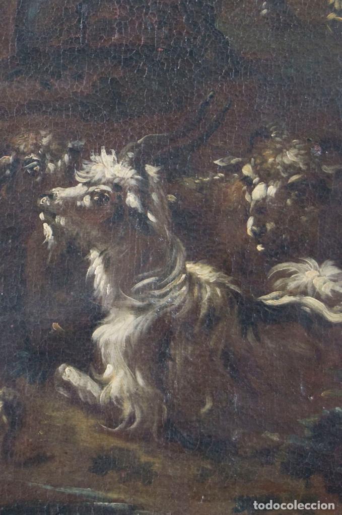 "Arte: Atribuido a ""Rosa de Tivoli"" Roos, Philipp Peter. paisaje con ganado - Foto 10 - 63278432"