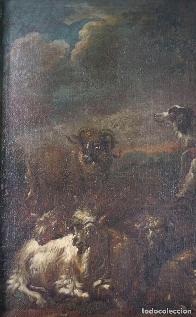 "Arte: Atribuido a ""Rosa de Tivoli"" Roos, Philipp Peter. paisaje con ganado - Foto 4 - 63278564"