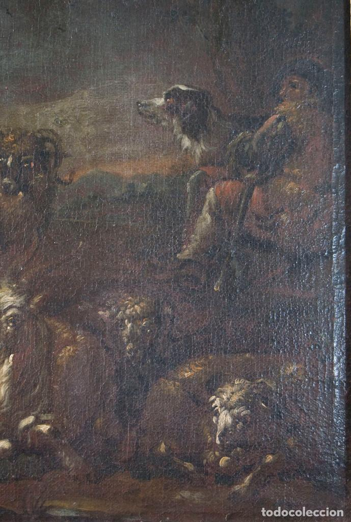 "Arte: Atribuido a ""Rosa de Tivoli"" Roos, Philipp Peter. paisaje con ganado - Foto 5 - 63278564"