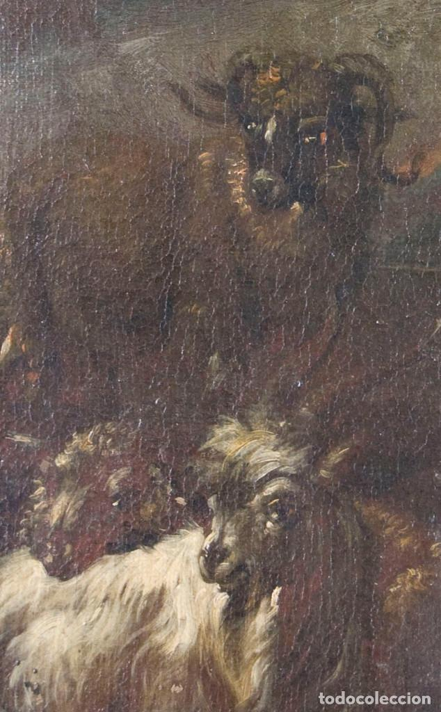 "Arte: Atribuido a ""Rosa de Tivoli"" Roos, Philipp Peter. paisaje con ganado - Foto 7 - 63278564"