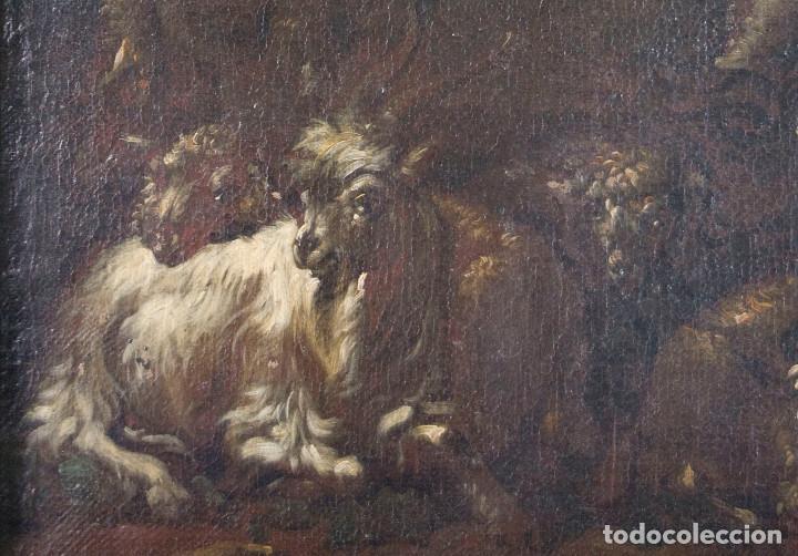 "ATRIBUIDO A ""ROSA DE TIVOLI"" ROOS, PHILIPP PETER. PAISAJE CON GANADO (Arte - Pintura - Pintura al Óleo Antigua siglo XVII)"