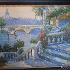 Arte: PAISAJE DE PARIS. Lote 63288816