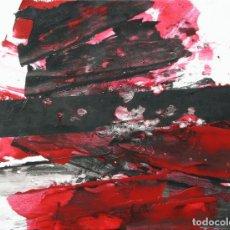Arte: LUIS FEITO PINTURA SOBRE CARTÓN PEGADO EN LIENZO. Lote 63452396
