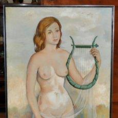 Arte: ARTUR CARBONELL I CARBONELL (SITGES, 1906 - 1973) OLEO LIENZO. JOVEN DESNUDA. 166 CM. X 80 CM.. Lote 63549928