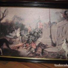 Arte: CUADRO ENMARCADO BODEGÓN CAZA GRANDE MEDIDA 113 X 74 CM. IMPRESO SOBRE LIENZO. Lote 63673283