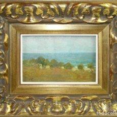 Arte: O1-044 - JOAN TORRAS BACHS (1912-1984) - PAISAJE MARINO - OLEO/TABLA. Lote 44235110