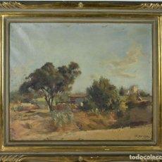 Arte: B3-001 ÓLEO SOBRE TELA , PAISAJE CAMPESTRE, ALFRED OPISSO, 1A. MITAD SIGLO XX.. Lote 44565046