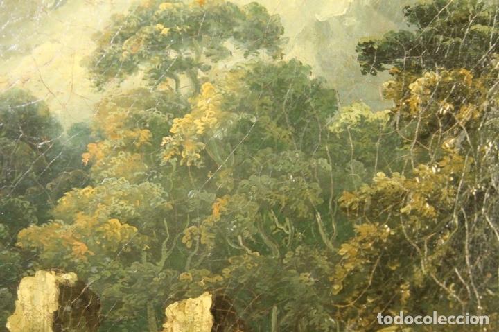 Arte: G-571. JOVENES EN EL JARDÍN. OLEO/LIENZO. ATRIBUIDO JOHN THOMAS SERRES. XVIII - Foto 4 - 45296548