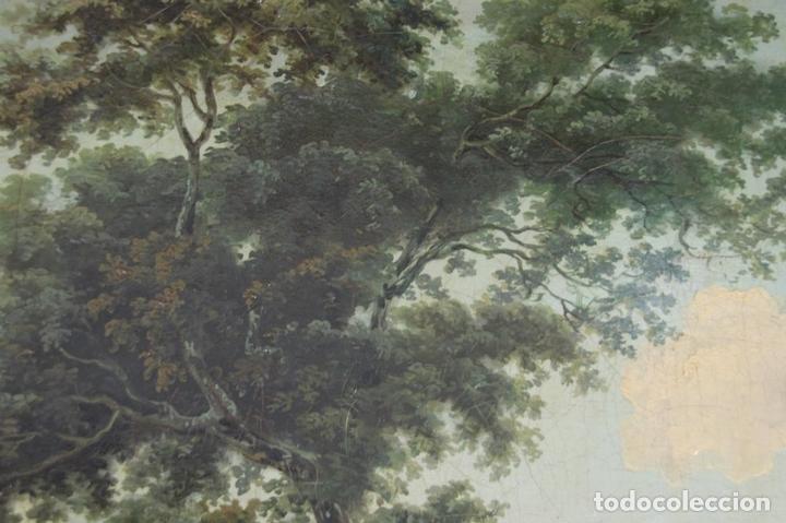 Arte: G-571. JOVENES EN EL JARDÍN. OLEO/LIENZO. ATRIBUIDO JOHN THOMAS SERRES. XVIII - Foto 5 - 45296548