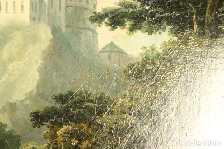 Arte: G-571. JOVENES EN EL JARDÍN. OLEO/LIENZO. ATRIBUIDO JOHN THOMAS SERRES. XVIII - Foto 6 - 45296548