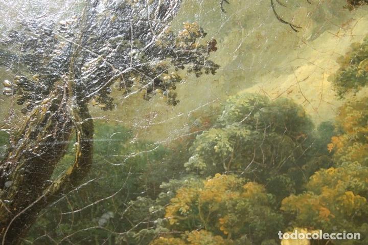 Arte: G-571. JOVENES EN EL JARDÍN. OLEO/LIENZO. ATRIBUIDO JOHN THOMAS SERRES. XVIII - Foto 7 - 45296548