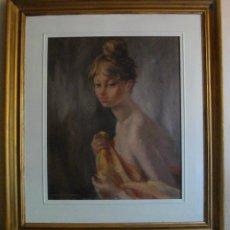 Arte: MONTSERRAT BARTA PRATS (1906-1988), OLEO SOBRE TABLA, CON MARCO INCLUIDO 58'5 X 67 CM. Lote 64157815