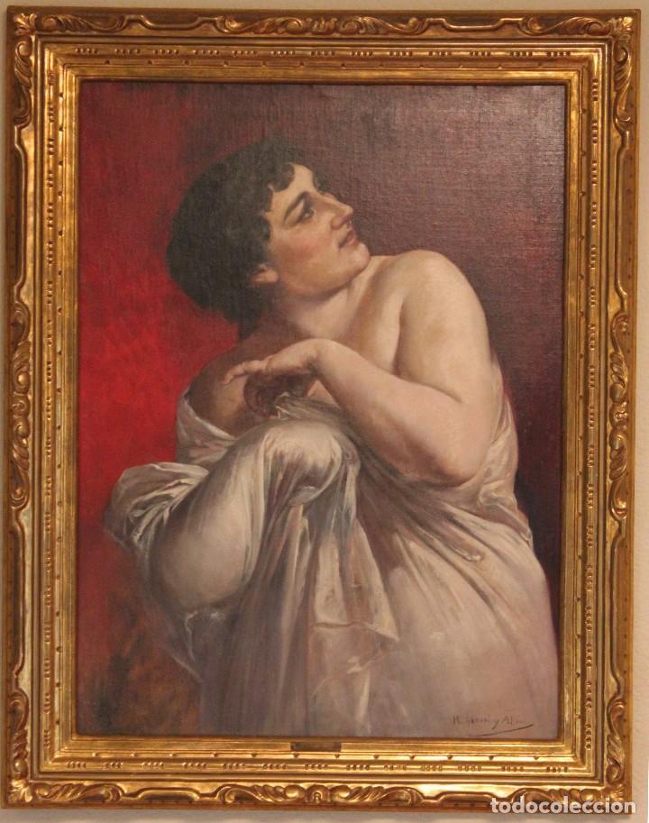 MARTI ALSINA, RAMON (1826-1894) - OLEO S/LIENZO 78 X 58 CM. (Arte - Pintura - Pintura al Óleo Moderna siglo XIX)