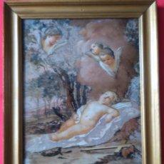 Arte: ÓLEO S/CRISTAL ENMARCADO -JESÚS NIÑO CON LOS SÍMBOLOS DE LA PASIÓN-. S. XVIII -ESC ITALIANA-. 45X36. Lote 64403079