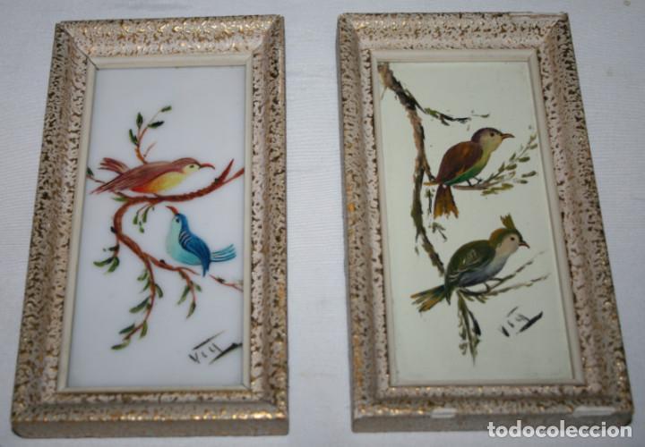 2 bonitos cuadros antiguos pajaros pintados en comprar for Comprar cuadros bonitos