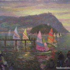 Arte: JESÚS BERNARDO SUSO (1944). VELEROS, DONOSTIA. Lote 64417807