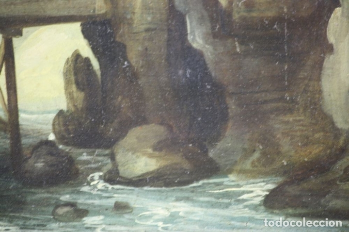 Arte: F2-002 PAISAJE CON CASTILLO. OLEO SOBRE TABLA. ESCUELA HOLANDESA. SIGLO XVII-XVIII - Foto 10 - 43067812