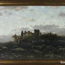 Arte: E4-009. PAISAJE RURAL. ÓLEO/TELA. CÍRCULO DE MODEST URGELL. ESPAÑA. SIGLO XIX. Lote 45311000