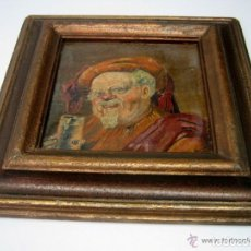 Arte: ANTIGUA PINTURA AL OLEO FIRMADA FECHADA - RETRATO CABALLERO. Lote 165574770