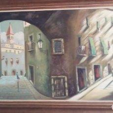 Arte: CRISTIA-PRECIOSO CUADRO OLEO FIRMADO 145CM/75CM. Lote 196367291