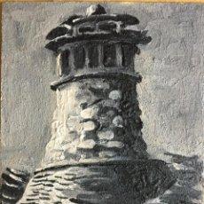 Arte: OLEO SOBRE TABLA DE CHIMENEA TÍPICA DEL PIRINEO ARAGONÉS, FIRMADO R LOBATO 2009. Lote 64939531