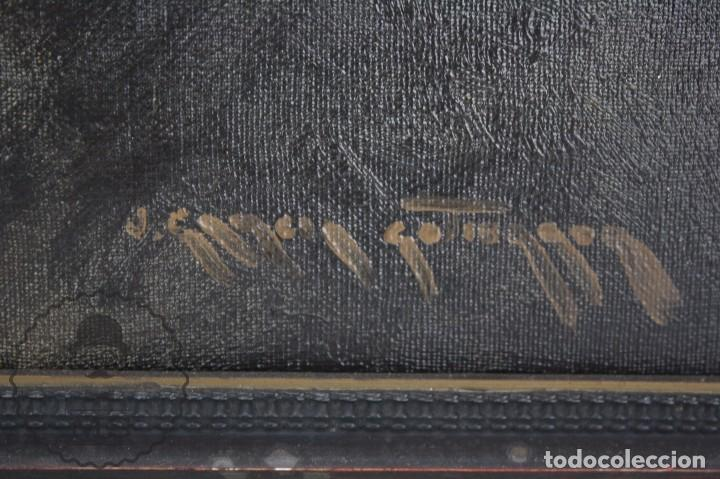Arte: Pintura al Óleo Sobre Lienzo de Julio García Gutiérrez - Peces Naranjas / Dorados - 67 x 78 cm - Foto 5 - 65051671