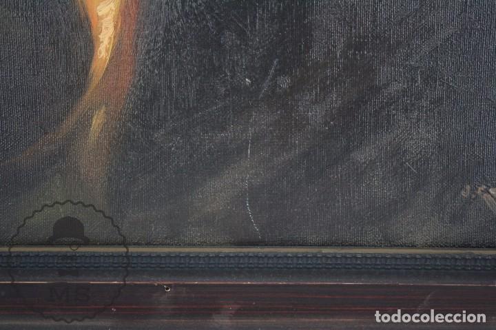 Arte: Pintura al Óleo Sobre Lienzo de Julio García Gutiérrez - Peces Naranjas / Dorados - 67 x 78 cm - Foto 10 - 65051671