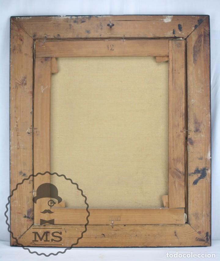 Arte: Pintura al Óleo Sobre Lienzo de Julio García Gutiérrez - Peces Naranjas / Dorados - 67 x 78 cm - Foto 11 - 65051671