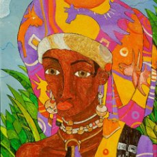 Arte: PACO MELENDEZ (MÁLAGA 1965), INTERESANTE Y PRECIOSA PINTURA ORIGINAL FIRMADA.. Lote 65504443