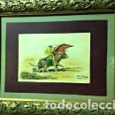 Arte: PINTURA ORIGINAL TOROS ANTONIO CASERO. Lote 64778979
