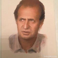 Arte: RETRATO ORIGINAL JUAN CARLOS I. FIRMA LUCIANO. 42X30 CM. Lote 65933226