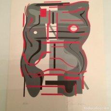 Arte: LA MUJER GRIS, DE JUAN ECHEGOIEN CRUZ. 42X60 CM. Lote 65934830