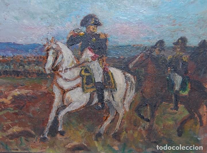 MINIATURA ÓLEO NAPOLEÓN BONAPARTE (Arte - Pintura - Pintura al Óleo Antigua sin fecha definida)