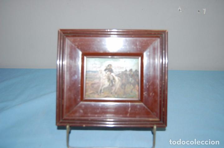 Arte: Miniatura óleo Napoleón Bonaparte - Foto 2 - 66099106