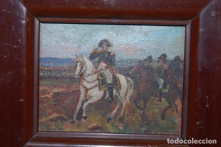 Arte: Miniatura óleo Napoleón Bonaparte - Foto 3 - 66099106
