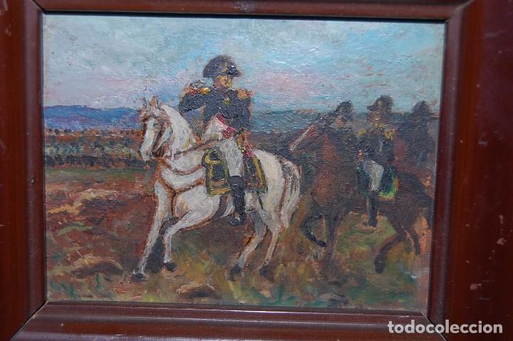 Arte: Miniatura óleo Napoleón Bonaparte - Foto 4 - 66099106
