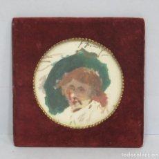 Arte: PEQUEÑO RETRATO. FRANCISCO DOMINGO MARQUES (VALENCIA 1842 – MADRID 1920). FIRMADO Y FECHADO 1888. Lote 66195410