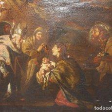 Arte: MAGNÍFICO OLEO SOBRE LIENZO. S.XVII. PRESENTACIÓN DEL NIÑO EN EL TEMPLO.. Lote 66213454