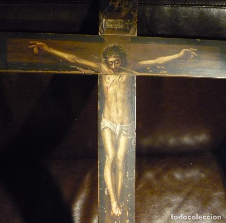 Arte: CRISTO EN LA CRUZ. ATRIBUIDO A ANTONIO DE PEREDA (1611-78) - Foto 2 - 81176330