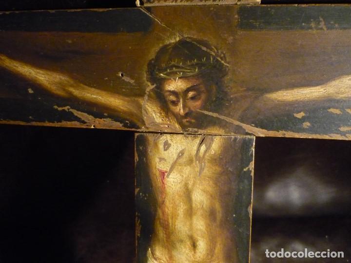 Arte: CRISTO EN LA CRUZ. ATRIBUIDO A ANTONIO DE PEREDA (1611-78) - Foto 3 - 81176330