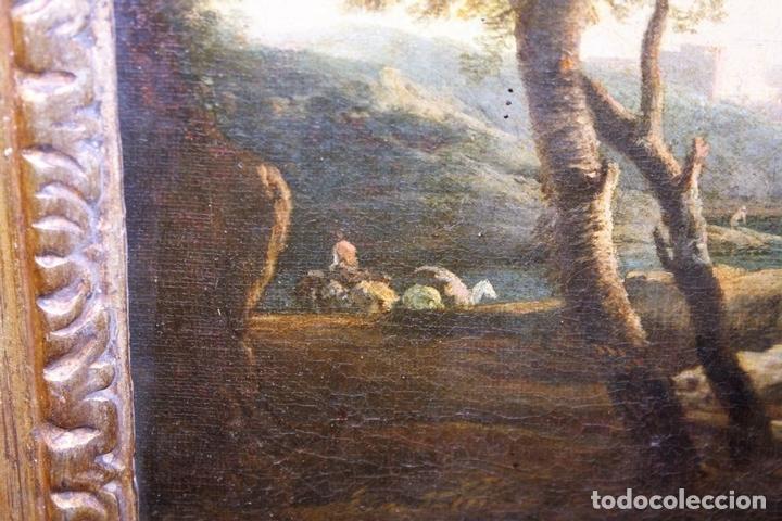 Arte: F1-021. PAISAJE COSTERO. O/L. ATRIBUIBLE CLAUDE JOSEPH VERNET. FRANCIA. SIGLO XVIII - Foto 9 - 66445622