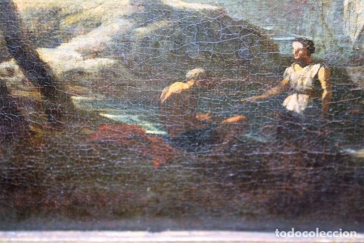 Arte: F1-021. PAISAJE COSTERO. O/L. ATRIBUIBLE CLAUDE JOSEPH VERNET. FRANCIA. SIGLO XVIII - Foto 14 - 66445622