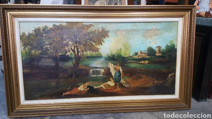 OLEO/LIENZO, ESCENA COSTUMBRISTA,S.XX ESCUELA VALENCIANA.118X68CM. FIRMADO Y DEDICADO. PRECIO:400€ (Arte - Pintura - Pintura al Óleo Contemporánea )