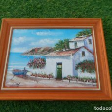 Arte: CUADRO OLEO SOBRE LIENZO, PAISAJE MARITIMO --- FIRMADO CAMPS. Lote 66491862