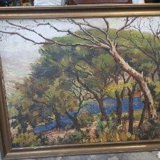 Arte: OLEO SOBRE TABLA 130X102 PAISAJE IMPRESIONISTA. FIRMADO IBORRA.. Lote 66849675