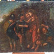 Arte: VIEJA PINTURA FRANCESA DEL BESO DE JUDAS DEL SIGLO XVIII. Lote 67115601