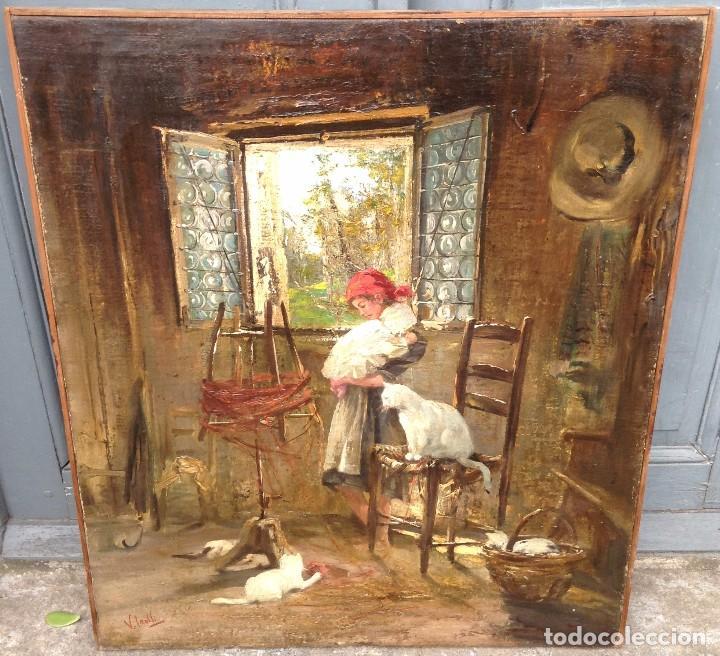 VINCENZO IROLLI (1860-1942) PINTOR ITALIANO - ÓLEO SOBRE TELA (Arte - Pintura - Pintura al Óleo Moderna sin fecha definida)