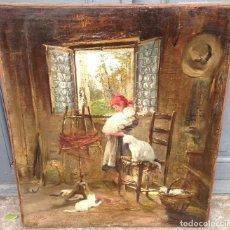 Arte: VINCENZO IROLLI (1860-1942) PINTOR ITALIANO - ÓLEO SOBRE TELA. Lote 67207545