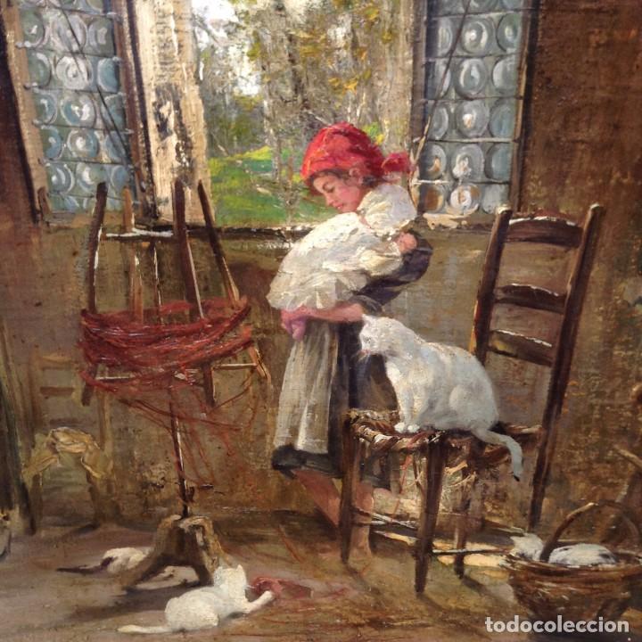 Arte: Vincenzo Irolli (1860-1942) Pintor Italiano - Óleo sobre tela - Foto 2 - 67207545
