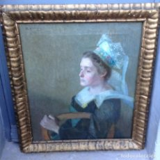 Arte: RUDOLF KONOPA (1864-1938) PINTOR AUSTRIACO - ÓLEO SOBRE TELA - RETRATO DE MUJER (1906). Lote 67207649